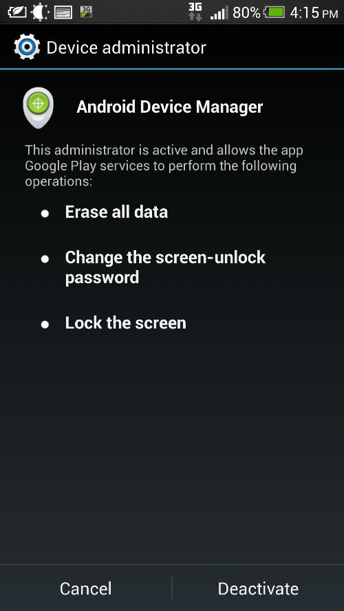 how to change android password remotely